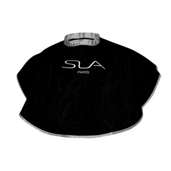 reversible cape black & silver
