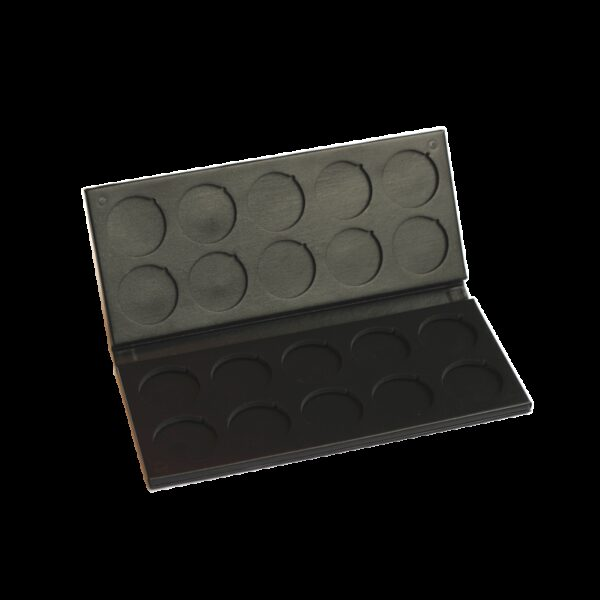 Empty rechargeable Palette of 20 eye shadows diam.35mm